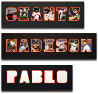 San Francisco Giants Commemorative Name Mats
