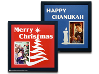 Framed Specialty Phot Name Mats including Merry Christmas and Happy Chanukah